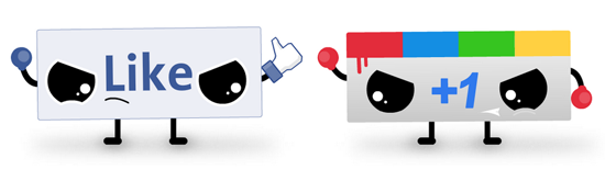 facebook like vs google+1