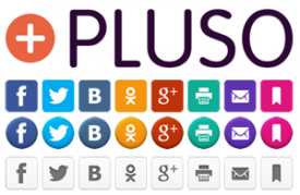 Кнопки социальных сетей от PLUSO